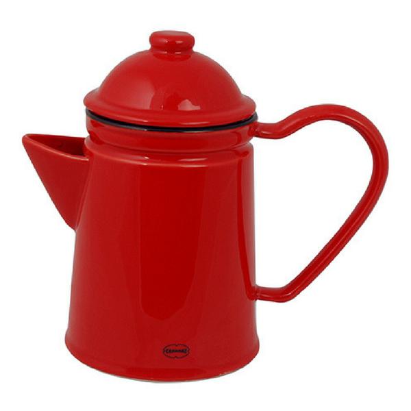 Keraamiline tee- või kohvikann 600 ml, punane. Cabanazi keraamilised retronõud on inspireeritud vintage emailnõudest. Nõud on nõudepesumasinas pestavad.