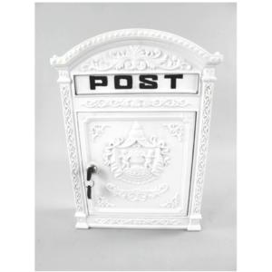 Valge postkast alumiiniumist