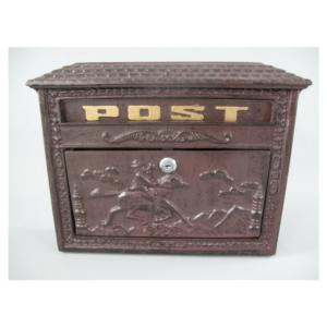Rustikaalne alumiiniumist postkast